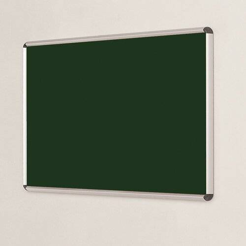 Symple Stuff Wall Mounted Bulletin Board Symple Stuff Size: 120cm H x 120cm W, Frame Finish: Aluminium, Colour: Bottle Green  - Size: 90cm H x 120cm W