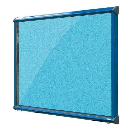 Symple Stuff Exterior Wall Mounted Bulletin Board Symple Stuff Size: 105cm H x 118.2cm W, Frame Finish: Green, Colour: Cyan  - Size: 105cm H x 118.2cm W