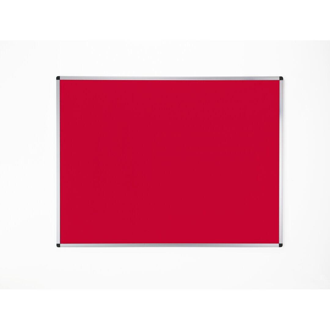 Symple Stuff Olivia-Grace Wall Mounted Bulletin Board  - Size: 80.0 H x 120.0 W x 1.8 D cm