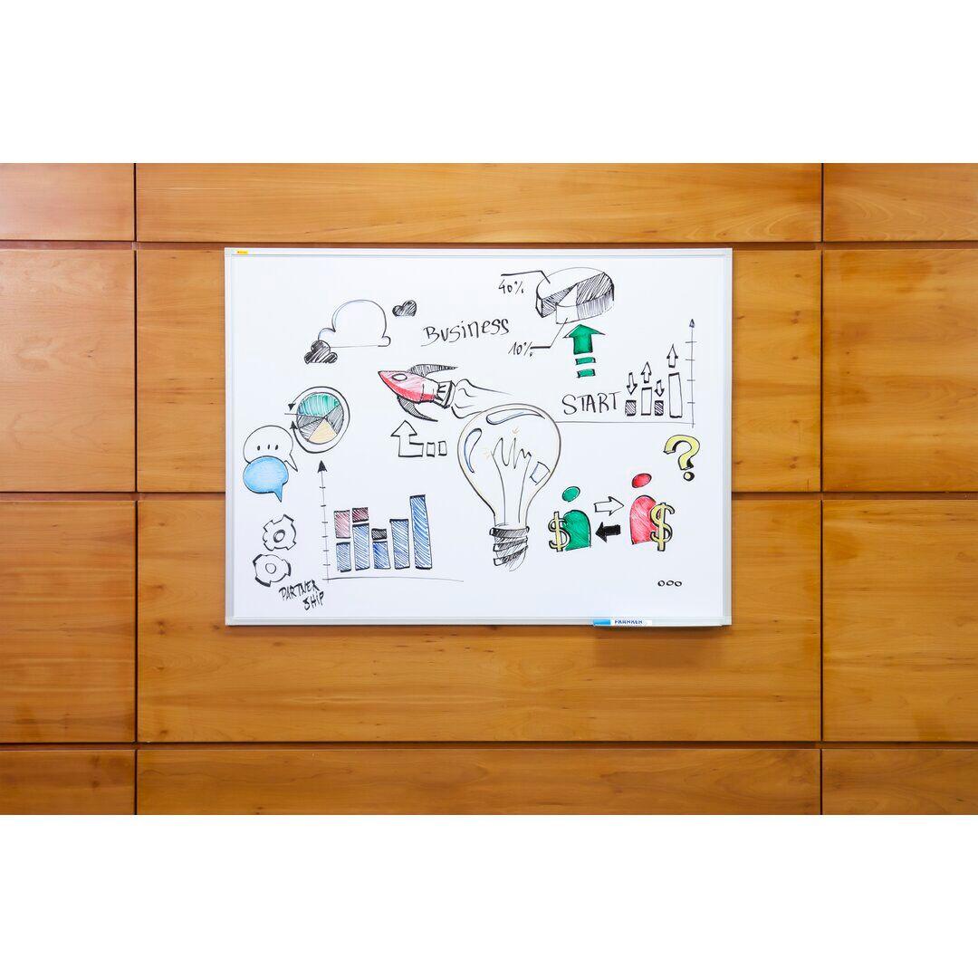 Symple Stuff X-tra!Line® Wall Mounted Whiteboard  - Size: 41.0 H x 41.0 W x 3.0 D cm