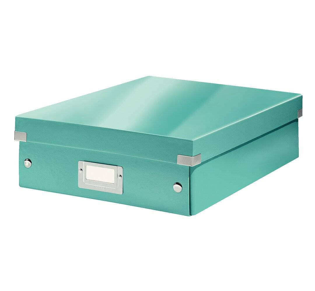 Leitz Wow Click and Store Cardboard Organiser Box  - Size: 570.0 H x 66.0 W x 0.54 D cm