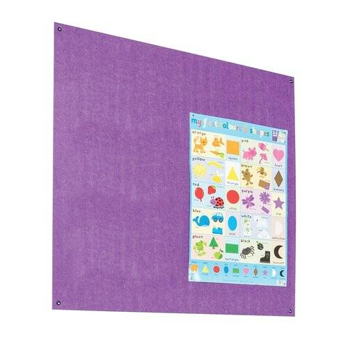 Symple Stuff Wall Mounted Reversible Bulletin Board Symple Stuff Size: 120cm H x 120cm W, Colour: Purple  - Size: 120cm H x 180cm W