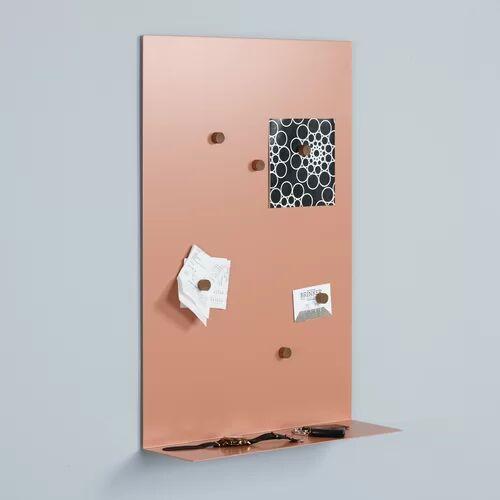 Mercury gar Ei Magnetic Bulletin Board 65cm H x 45cm L Mercury Row Colour: Apricot coloured  - Apricot coloured - Size: Small