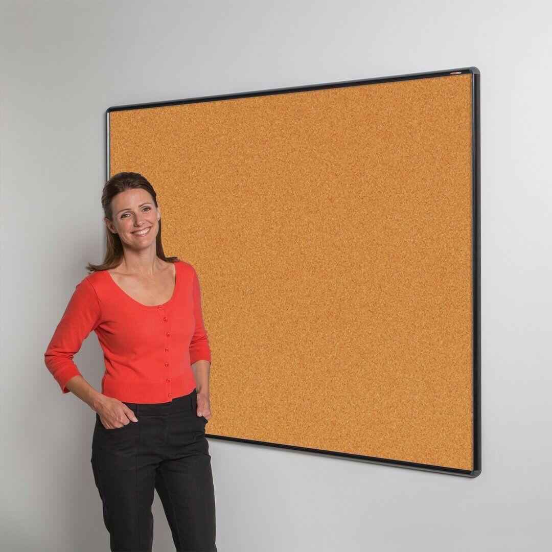 Symple Stuff Wall Mounted Bulletin Board  - Size: 40.0 H x 50.0 W x 2.3 D cm