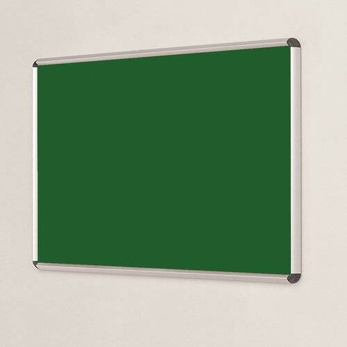 Symple Stuff Wall Mounted Bulletin Board Symple Stuff Size: 120cm H x 240cm W, Frame Finish: Red, Colour: Emerald  - Size: 120cm H x 240cm W