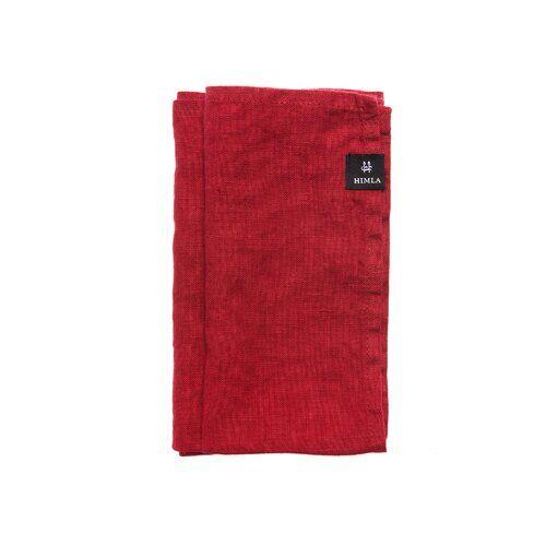 Himla Sunshine Linen Napkin Himla Colour: True Red