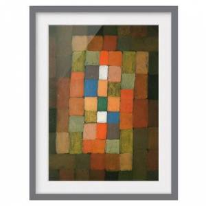 East Urban Home 'Static-Dynamic Increase' by Paul Klee Framed Painting East Urban Home Size: 40cm H x 30cm W, Frame Options: Matt grey  - Size: 40cm H x 30cm W