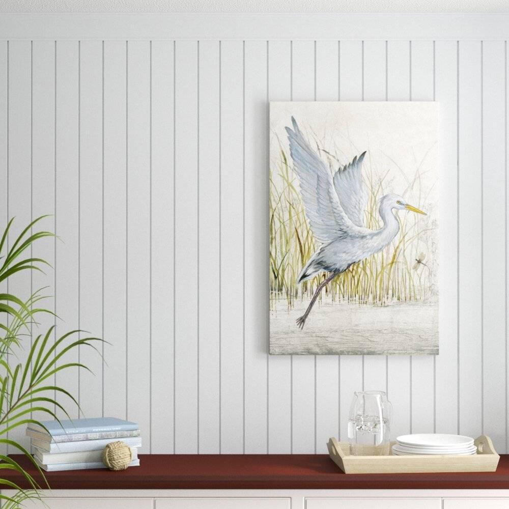 Beachcrest Home Heron Sanctuary I by Timothy O' Toole - Wrapped Canvas Painting Print  - Size: 66.04 H x 91.5 W x 7.5 D cm