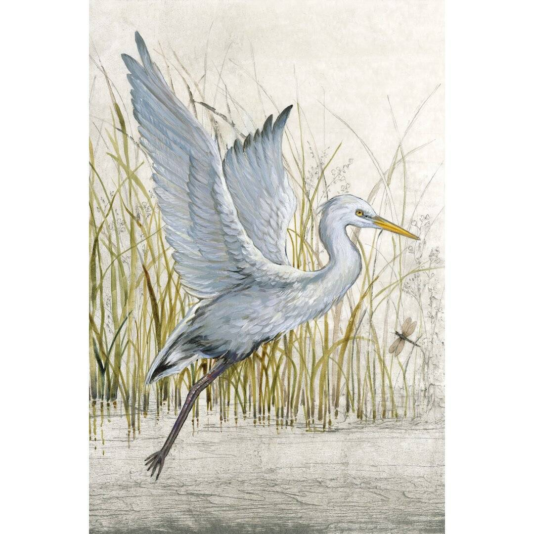 Beachcrest Home Heron Sanctuary I by Timothy O' Toole - Wrapped Canvas Painting Print  - Size: 900.0 H x 80.0 W cm