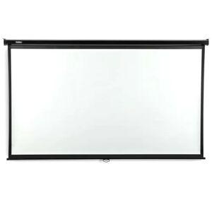 VonHaus White Manual Projection Screen VonHaus Viewing Area: 124.5cm H x 224.4cm W  - Size: 7cm H X 240cm W X 8cm D