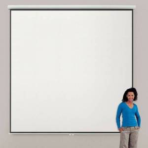 Symple Stuff Eyeline Manual Projection Screen Symple Stuff Viewing Area: 300cm H x 300cm W - Square 1:1