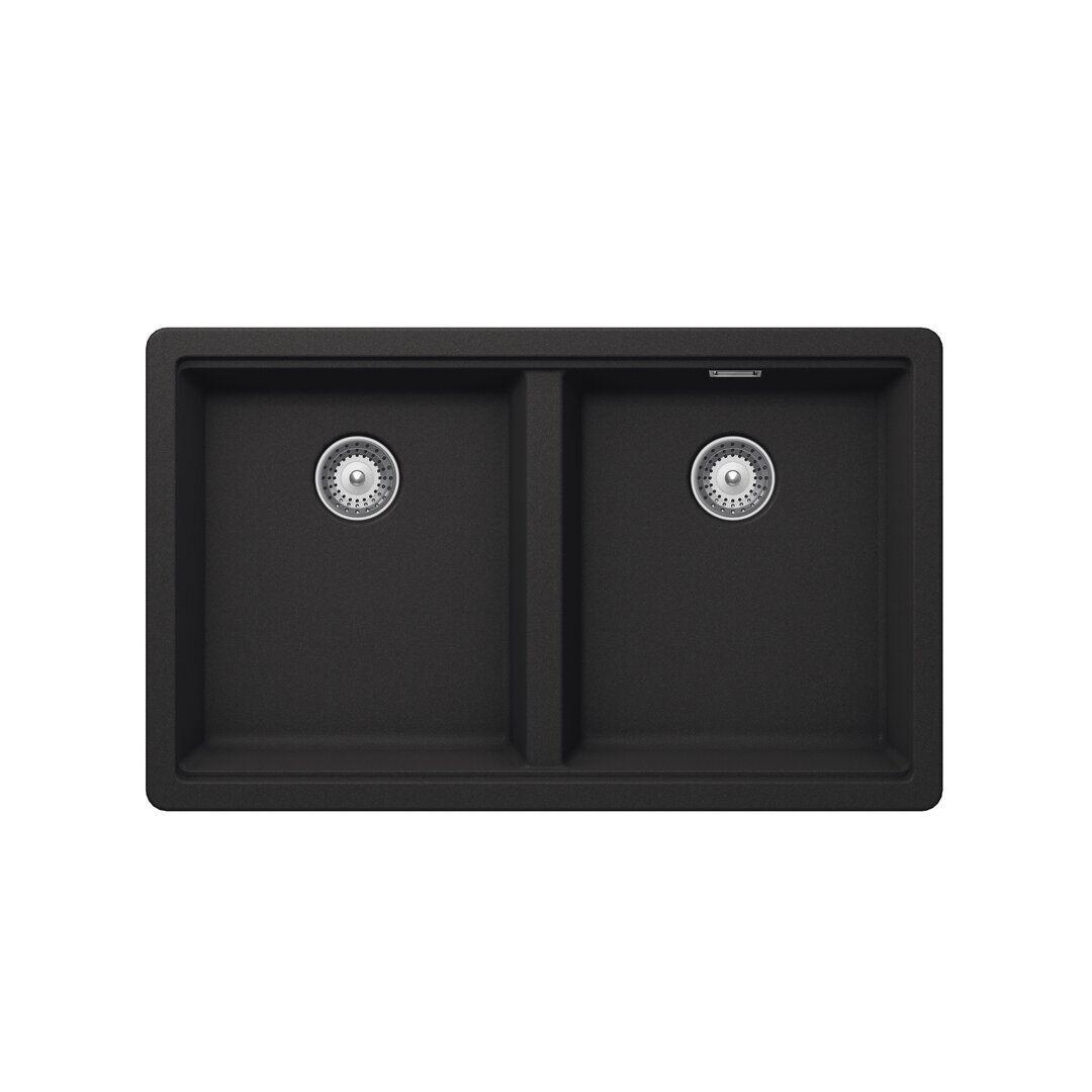 Schock Brooklyn Single Bowl Undermount Kitchen Sink  - Size: 20.0 H x 15.0 W x 15.0 D cm
