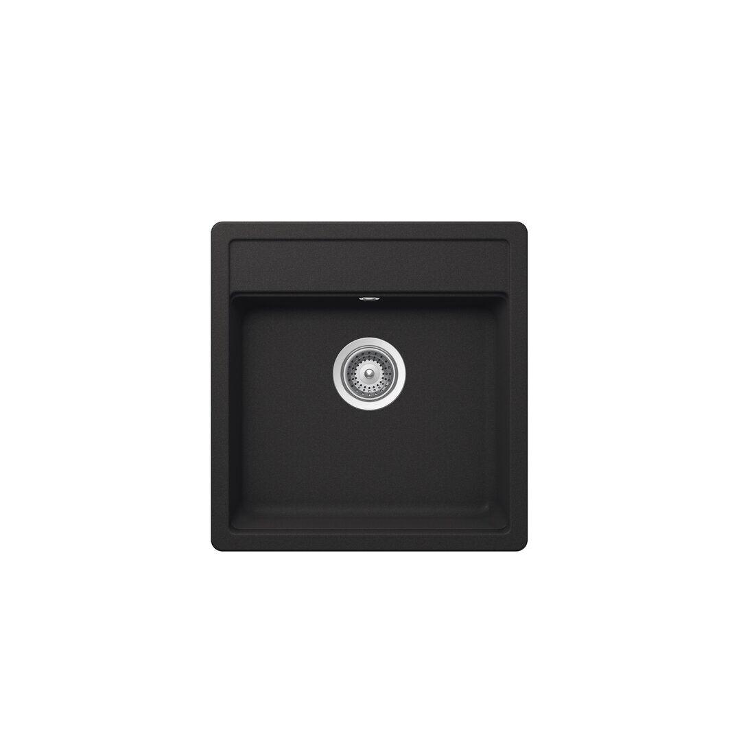 Schock Nemo Single Bowl Inset Kitchen Sink  - Size: 40.0 H x 40.0 W x 7.0 D cm