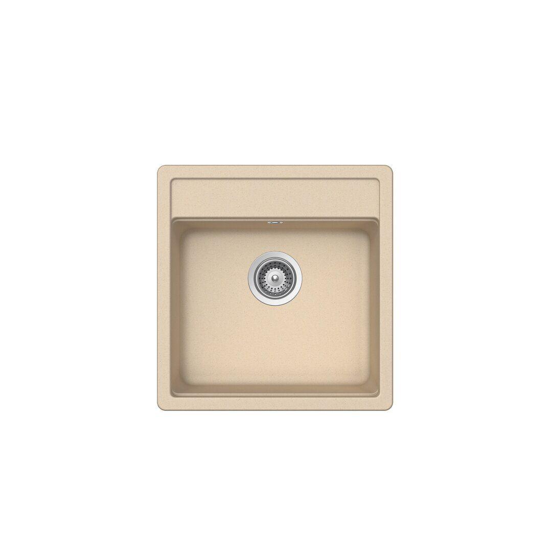 Schock Nemo Single Bowl Inset Kitchen Sink  - Size: 70.0 H x 100.0 W x 2.5 D cm