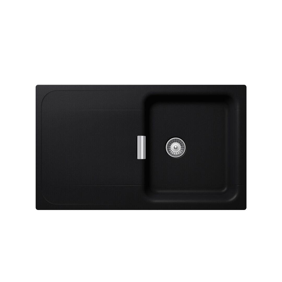 Schock Wembley Single Bowl Inset Kitchen Sink  - Size: 50.0 H x 183.0 W x 11.0 D cm