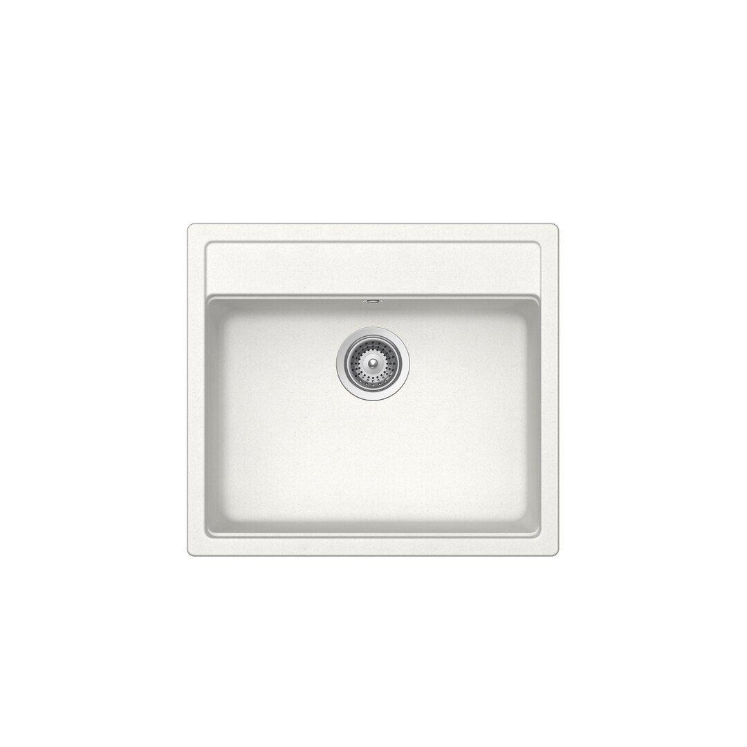 Schock Nemo Single Bowl Inset Kitchen Sink  - Size: 20.0 H x 40.0 W x 40.0 D cm