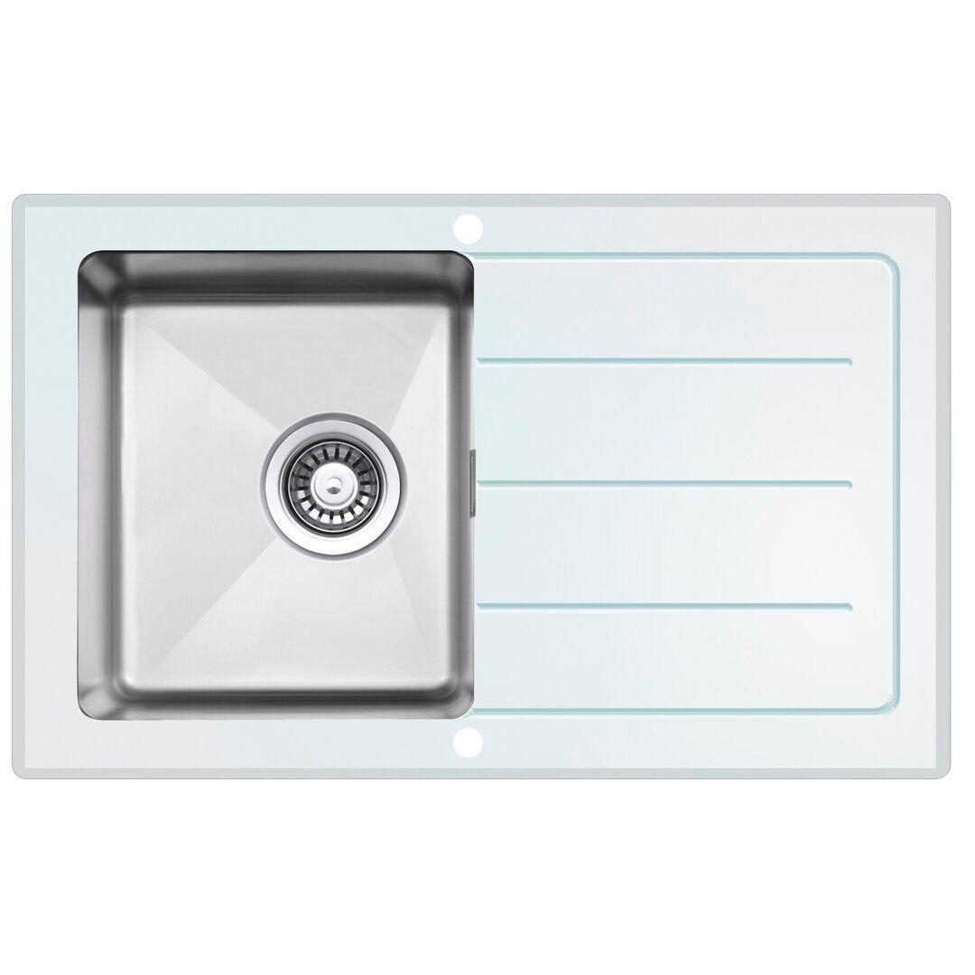 respekta New York Single Bowl Inset Kitchen Sink - Size: 21.0 H x 86.0 W x 50.0 D cm