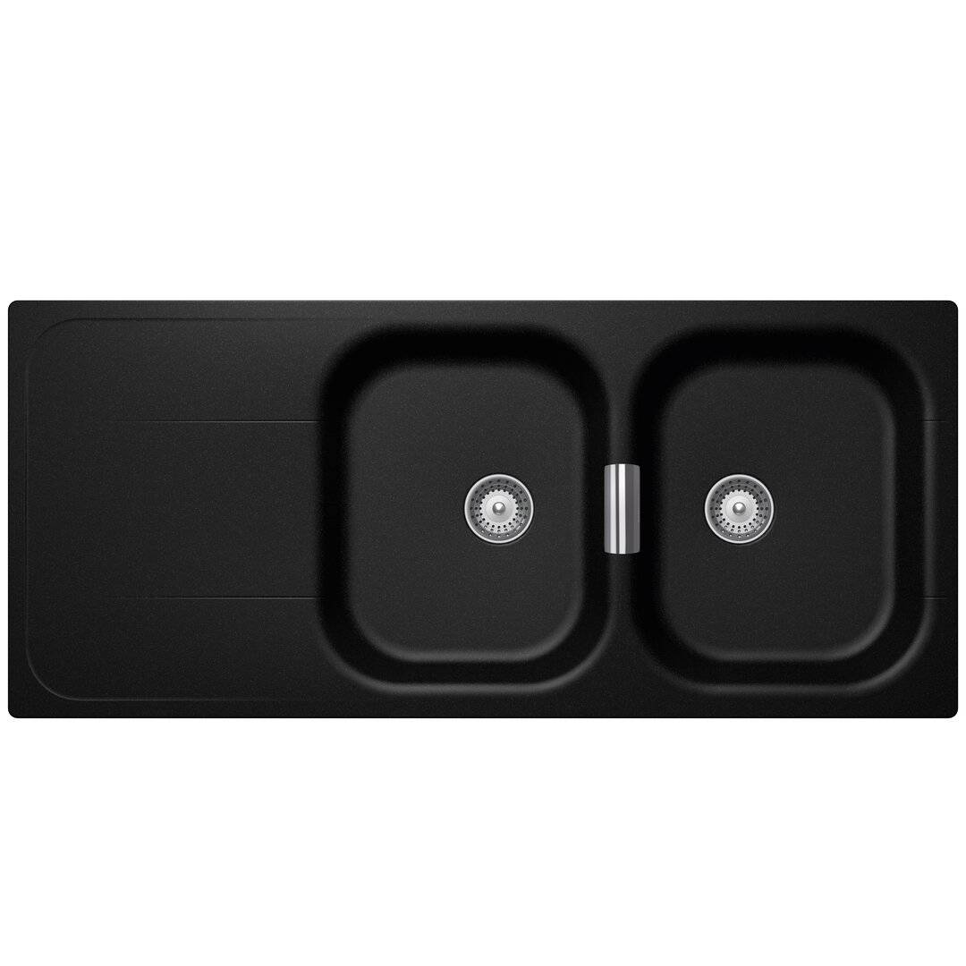 Schock Wembley Double Bowl Inset Kitchen Sink  - Size: 64.0 H x 51.0 W x 51.0 D cm
