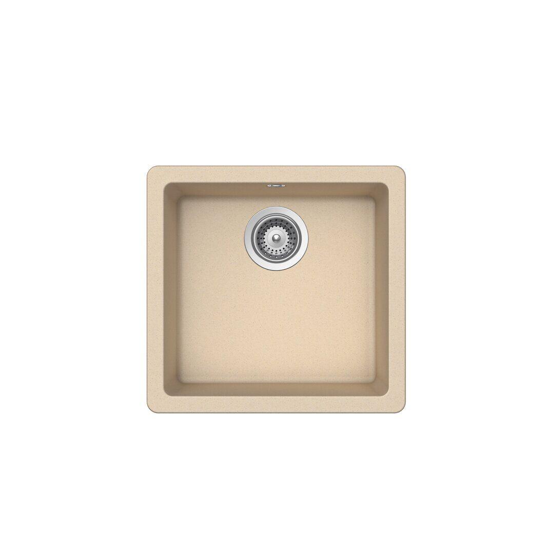 Schock Quadro Single Bowl Undermount Kitchen Sink  - Size: 67.4 H x 53.3 W x 24.3 D cm