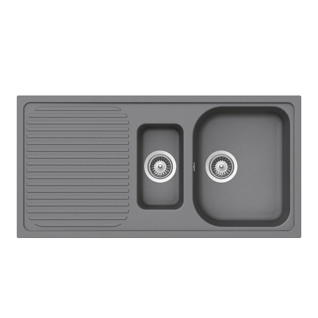 Schock Lithos Single Bowl Inset Kitchen Sink  - Size: 66.0 H x 66.0 W x 3.8 D cm