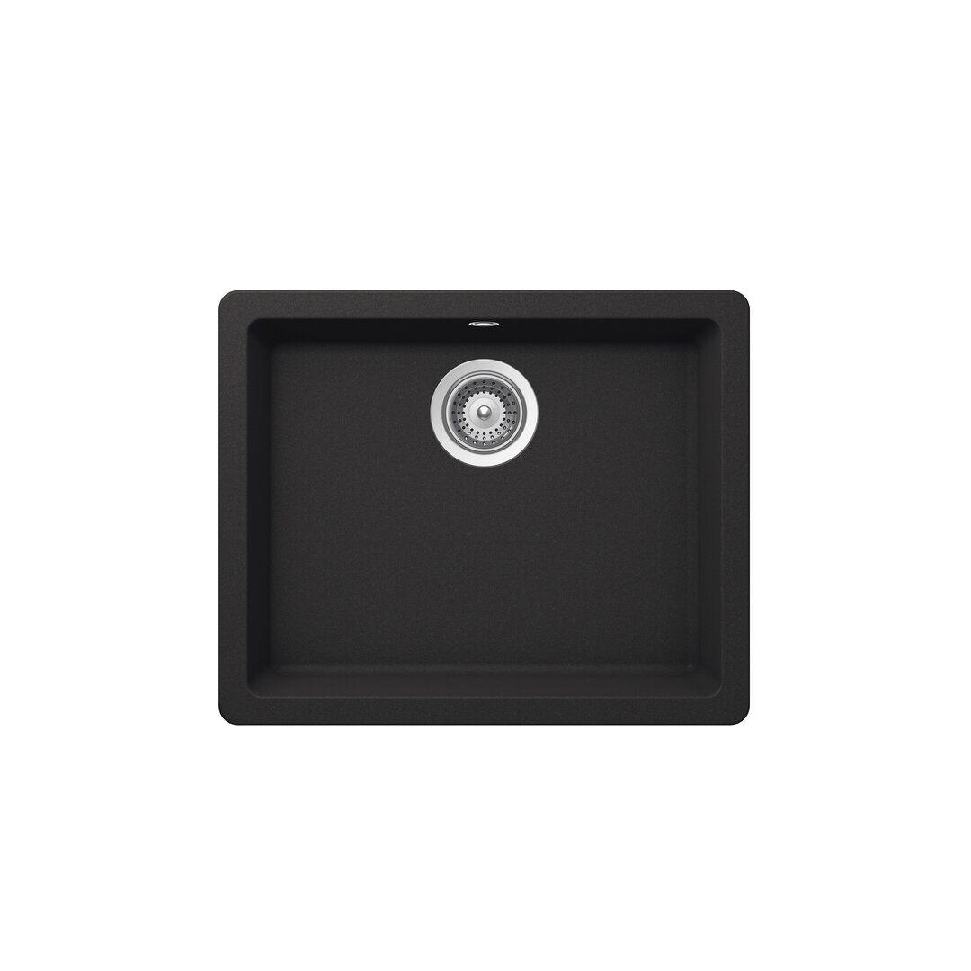 Schock Quadro Single Bowl Undermount Kitchen Sink  - Size: 50.0 H x 70.0 W x 1.0 D cm