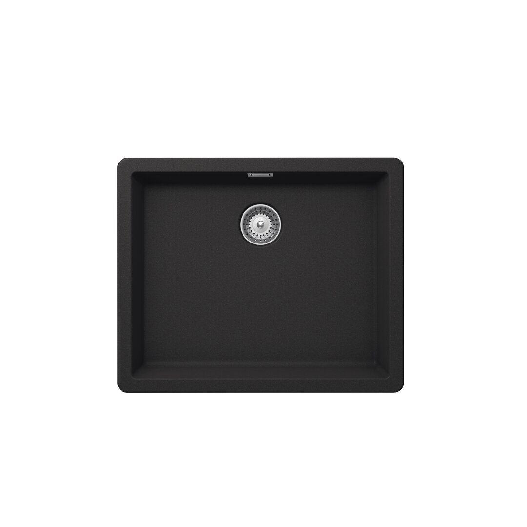SCHOCK Brooklyn Single Bowl Undermount Kitchen Sink  - Size: 12.0 H x 19.5 W x 6.0 D cm