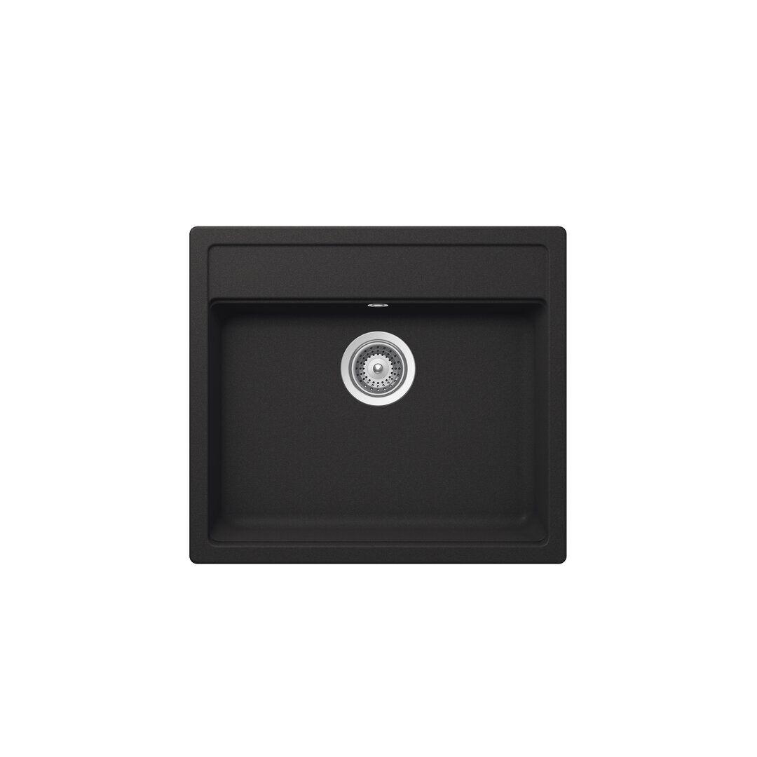 Schock Nemo Single Bowl Inset Kitchen Sink  - Size: 93.0 H x 126.0 W x 1.0 D cm