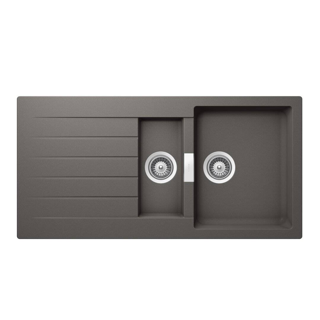Schock Signus 1.5 Bowl Inset Kitchen Sink  - Size: 20.0 H x 30.0 W x 5.0 D cm