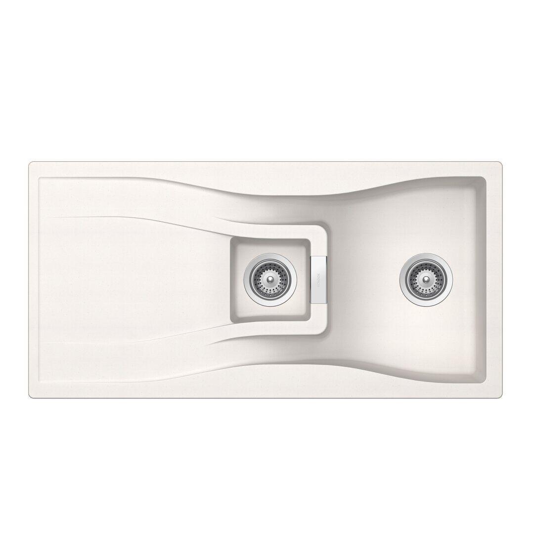 Schock Waterfall Single Bowl Inset Kitchen Sink  - Size: 107.0 H x 77.0 W x 2.0 D cm