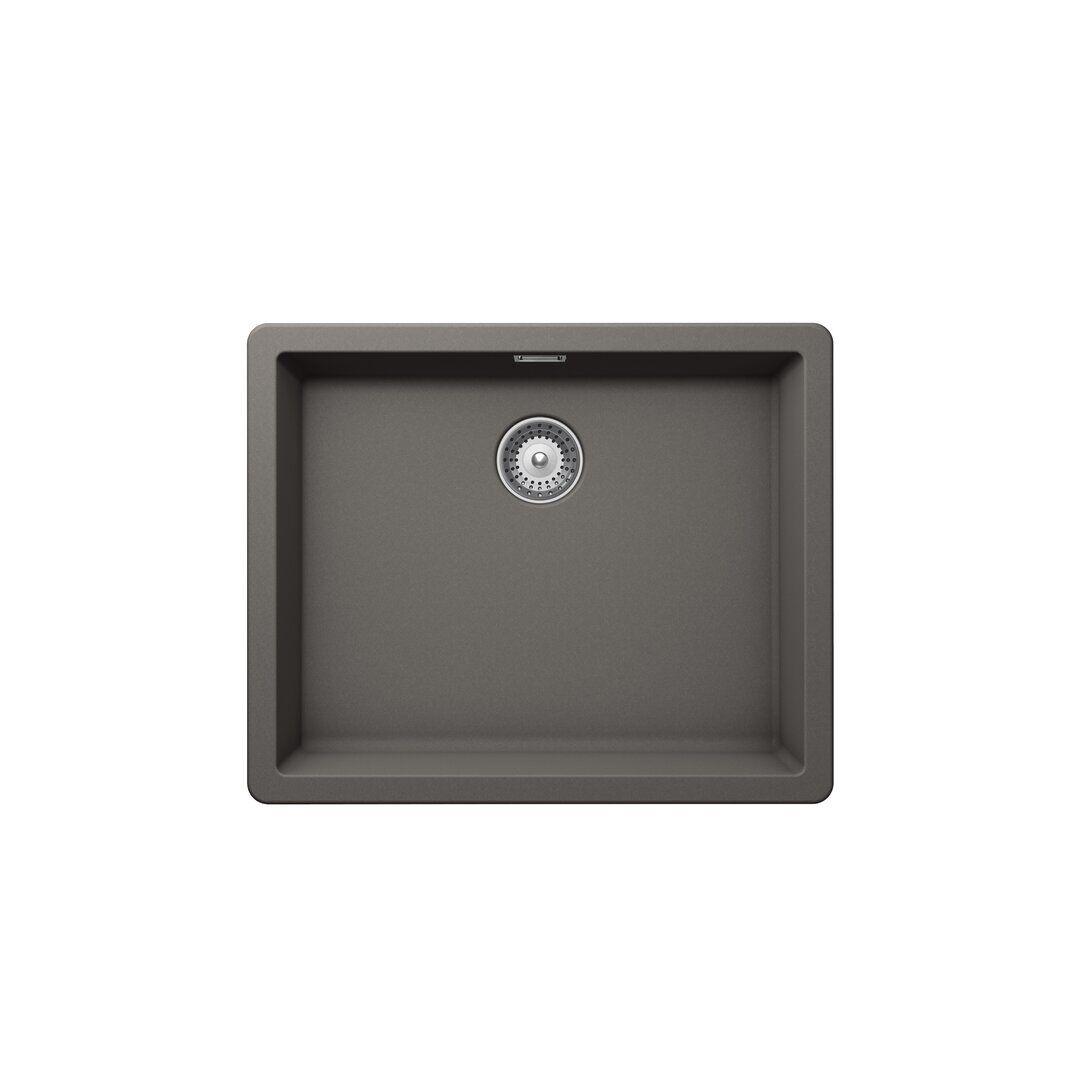 Schock Greenwich Single Bowl Undermount Kitchen Sink  - Size: 93.0 H x 126.0 W x 1.0 D cm