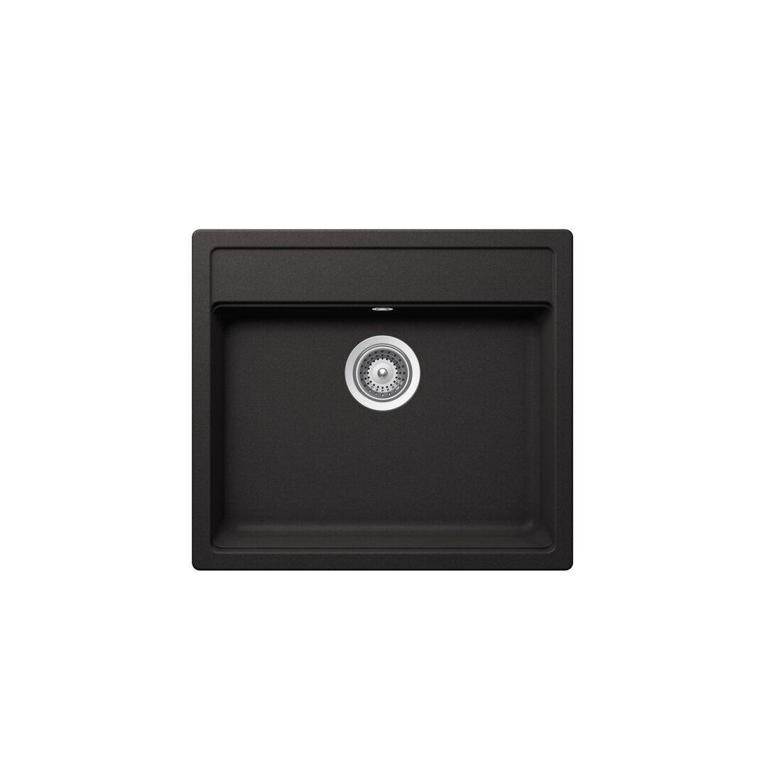 Schock Nemo Single Bowl Inset Kitchen Sink  - Size: 40.6 H x 121.9 W x 1.9 D cm