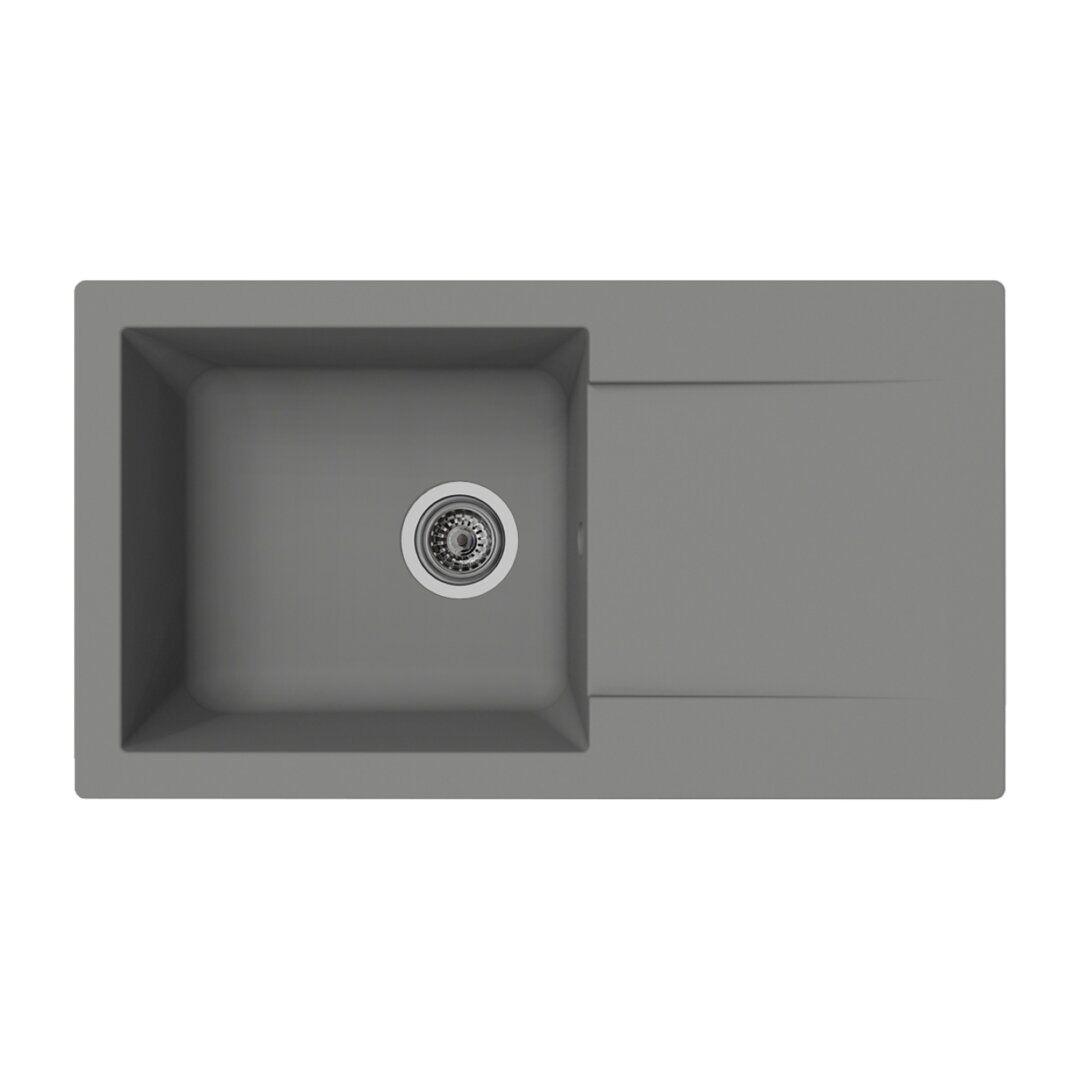 respekta DenverBowl Insert Kitchen Sink Single Bowl Inset Kitchen Sink - Size: 20.0 H x 78.0 W x 44.0 D cm