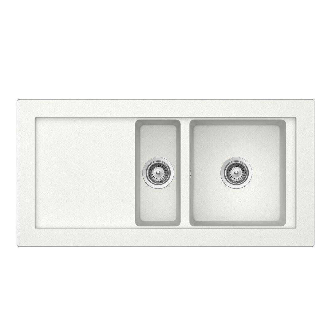 Schock Domus Single Bowl Inset Kitchen Sink  - Size: 78.5 H x 138.5 W x 39.0 D cm