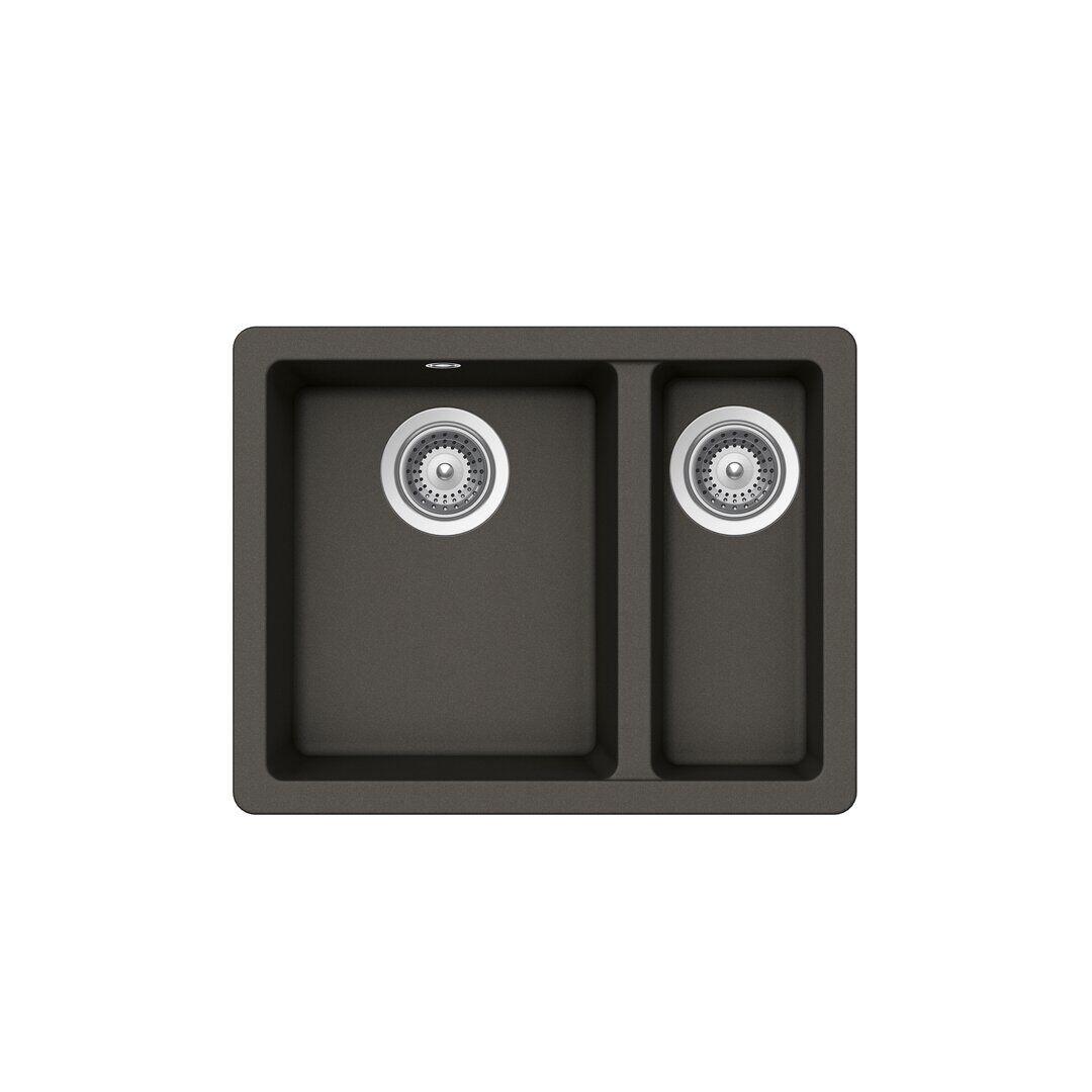 Schock Quadro Single Bowl Undermount Kitchen Sink  - Size: 198.1 H x 68.6 W cm