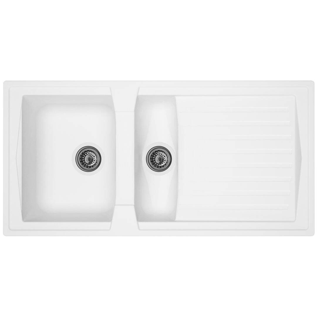 respekta Boston Bowl Insert 1.5 Inset Kitchen Sink - Size: 20.0 H x 100.0 W x 50.0 D cm