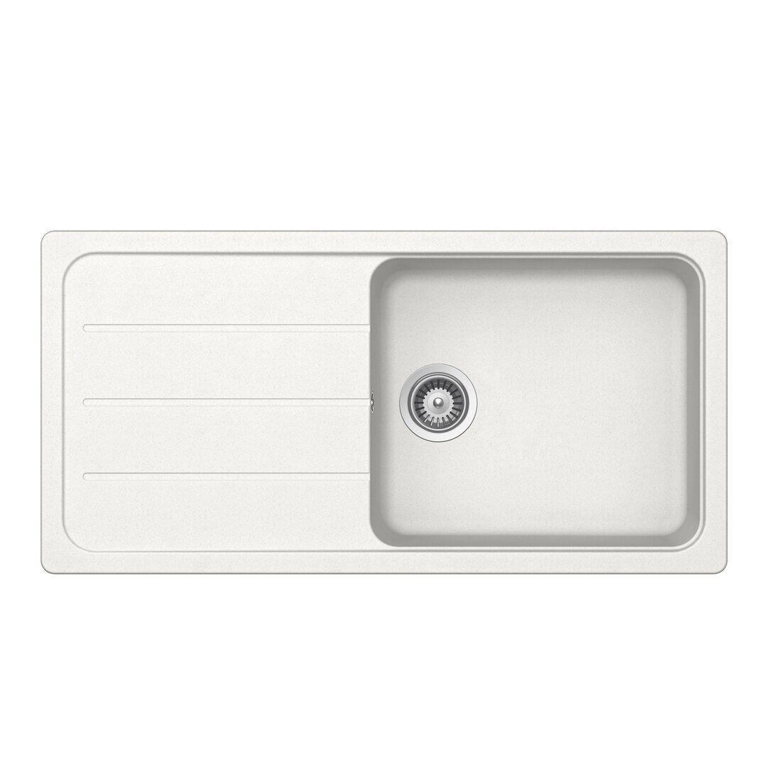 Schock Formhaus Single Bowl Inset Kitchen Sink  - Size: 45.72cm H x 45.72cm W x 3.81cm D