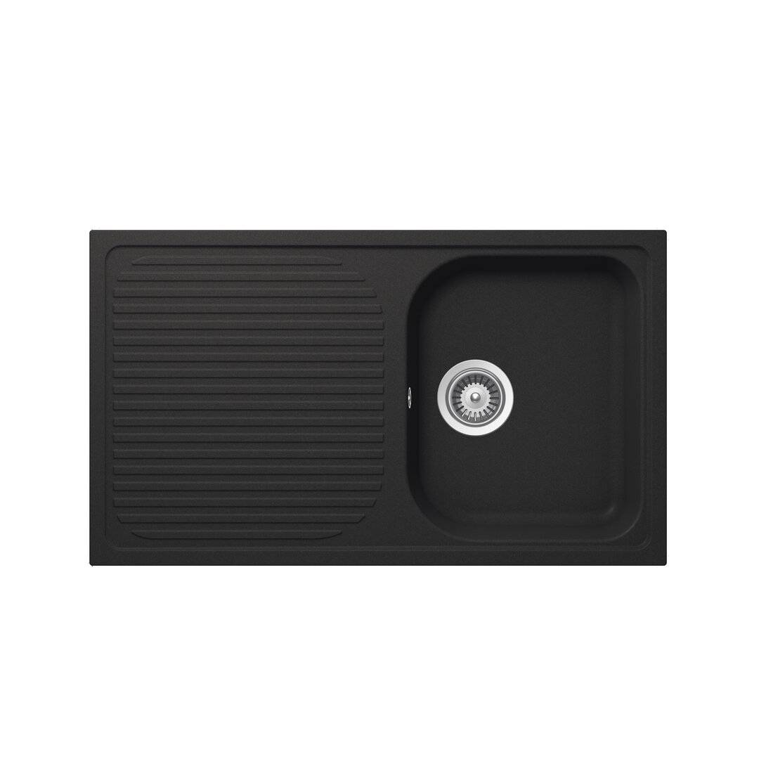 SCHOCK Lithos Single Bowl Inset Kitchen Sink  - Size: 66.04 H x 66.04 W x 1.91 D cm