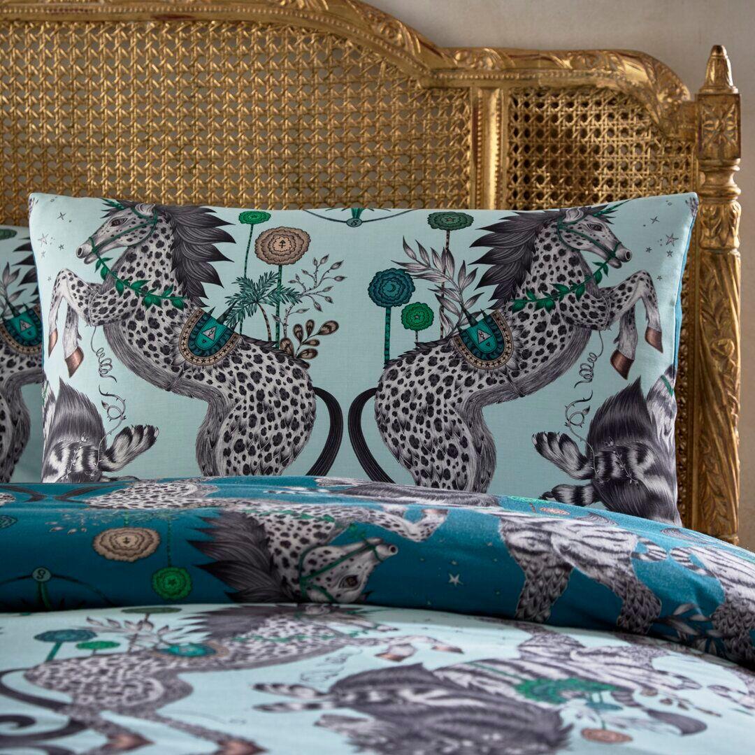 Emma J Shipley for Clarke & Clarke Caspian Housewife Pillowcase  - Size: 170.0 H x 130.0 W x 170.0 D cm