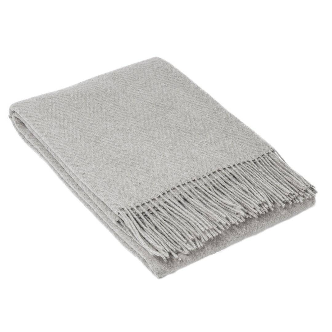 Brayden Studio Exmoor Merino Wool and Nylon Throw  - Size: 198.1 H x 76.2 W cm