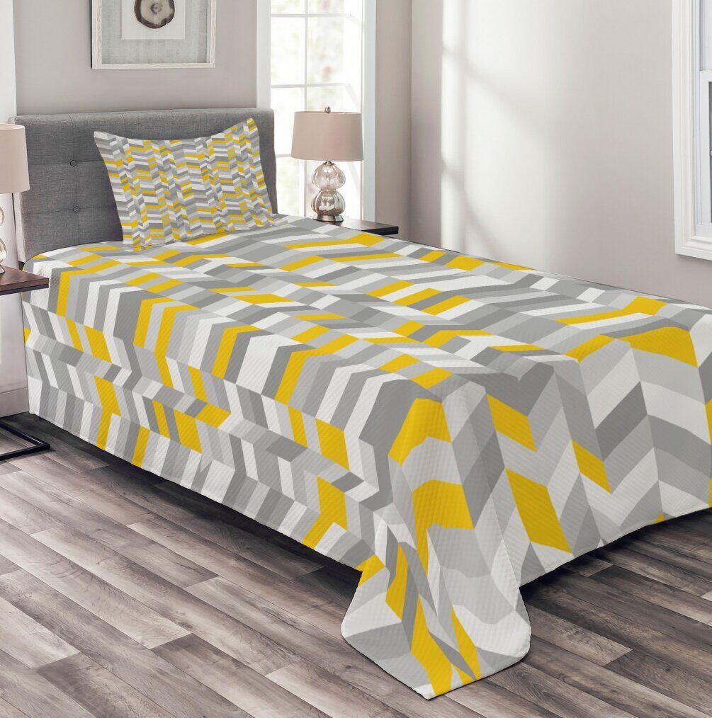 Corrigan Studio Blaire Bedspread Set with Cushion Cover  - Size: 198.1 H x 83.8 W cm