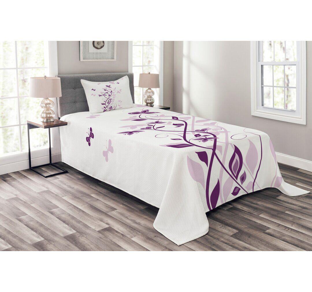 Ebern Designs Fulmer Bedspread Set with Cushion Cover  - Size: 62.0 H x 150.0 W cm