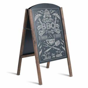 Symple Stuff A-Frame Pavement Sign Free-Standing Chalkboard 80cm H x 45cm W  - Size: 50.8 H x 50.8 W x 3.18 D cm