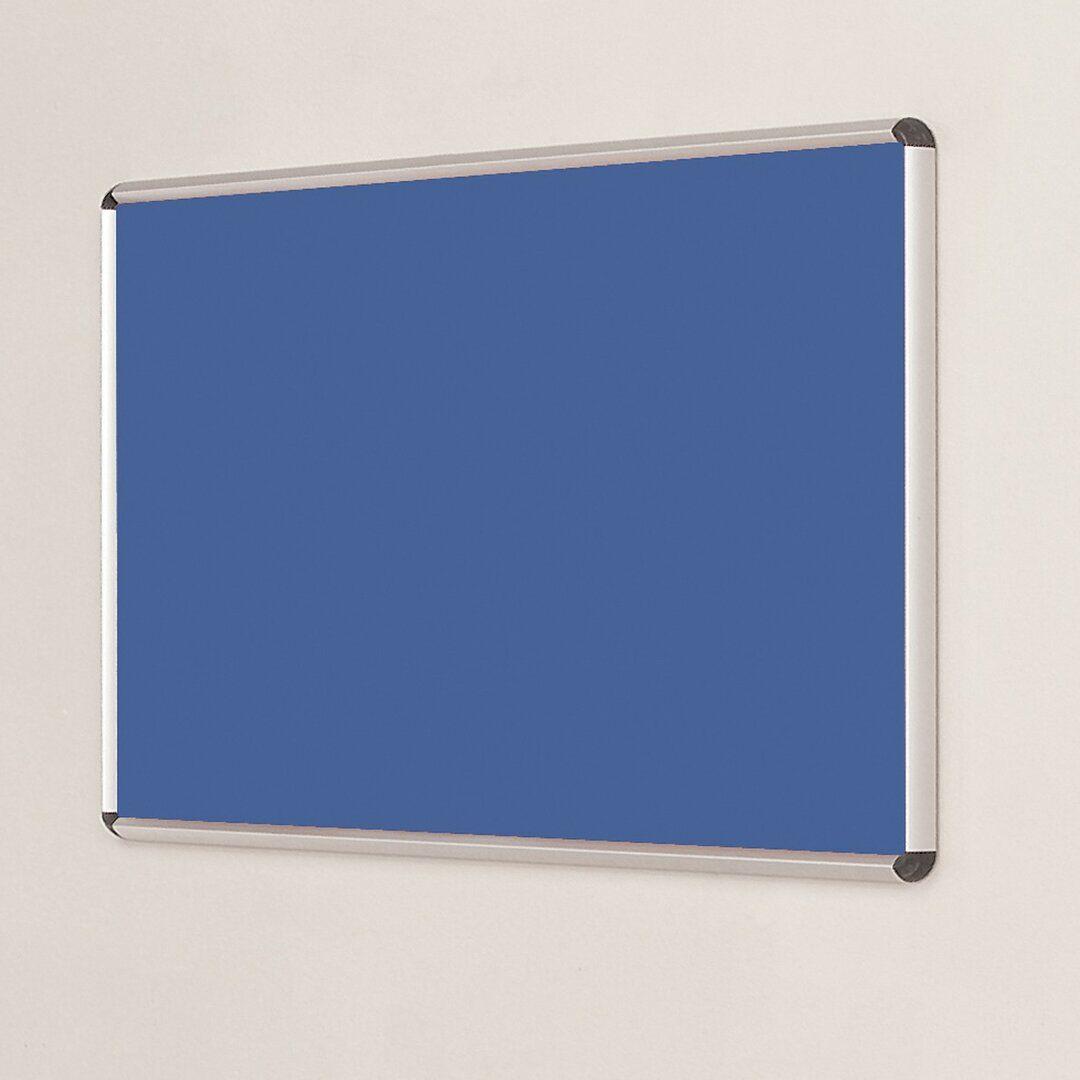 Symple Stuff Wall Mounted Bulletin Board  - Size: 160.0 H x 120.0 W x 1.27 D cm