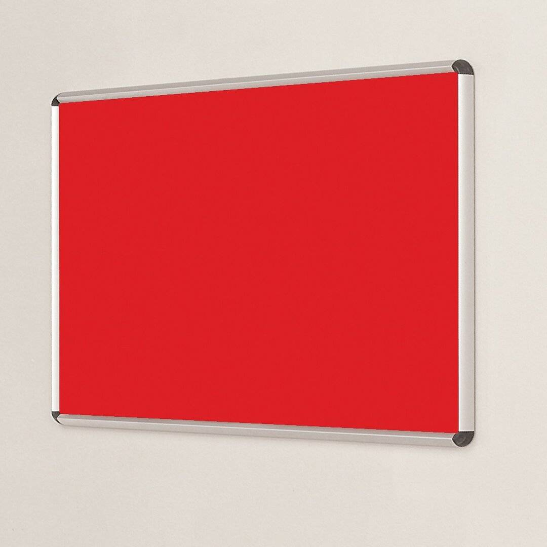 Symple Stuff Wall Mounted Bulletin Board  - Size: 120.0 H x 240.0 W cm