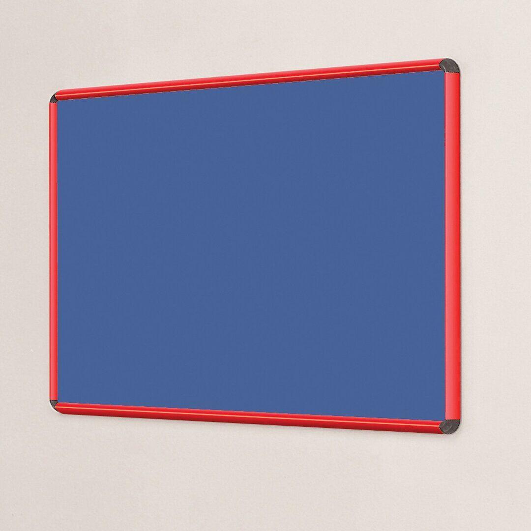 Symple Stuff Wall Mounted Bulletin Board - Size: 120.0 H x 180.0 W cm
