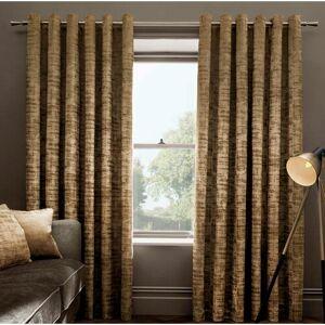 Fairmont Park Stoumont Eyelet Room Darkening Curtains Fairmont Park Size per Panel: 229 W x 137 D cm, Colour: Gold  - Gold