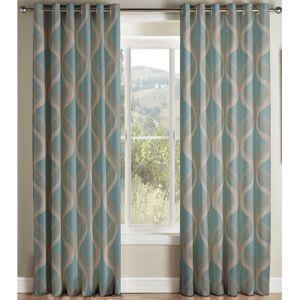 George Oliver Brionna Eyelet Semi Sheer Curtains George Oliver  - Size: 229cm H X 229cm W