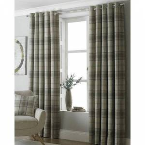 Brambly Cottage Bernita Eyelet Room Darkening Curtains Brambly Cottage Colour: Natural Beige, Panel Size: 117 W x 183 D cm  - Natural Beige - Size: 117 W x 183 D cm