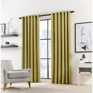 DKNY Madison Eyelet Room Darkening Curtain DKNY Colour: Fennel, Size per Panel: 167 W x 183 D cm  - Fennel - Size: 137cm H X 167cm W