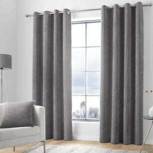 Marlow Home Co. Anthea Eyelet Room Darkening Curtains Marlow Home Co. Colour: Charcoal, Panel Size: Width 168cm x Drop 229cm  - Charcoal - Size: Width 168cm x Drop 229cm